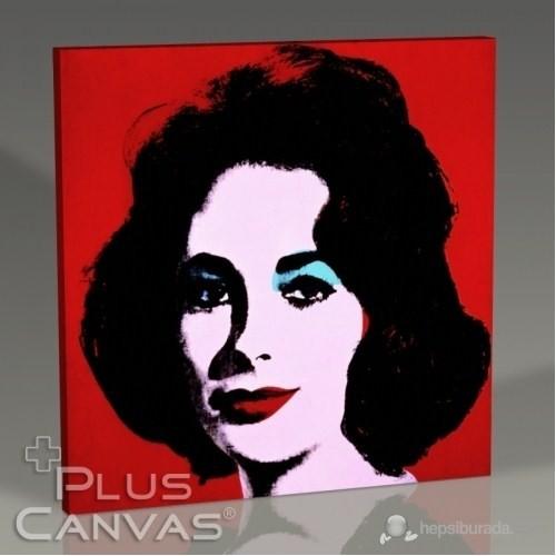 Pluscanvas - Andy Warhol - Red Liz 1962 Tablo