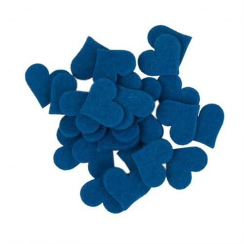 La Mia 25'Li Çivit Mavi Orta Boy Kalp Keçe Motifler - Fs308-M46