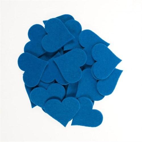 La Mia 25'Li Çivit Mavi Maxi Boy Kalp Keçe Motifler - Fs310-M46