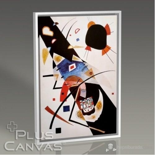 Pluscanvas - Wassily Kandinsky - Two Black Spots Tablo