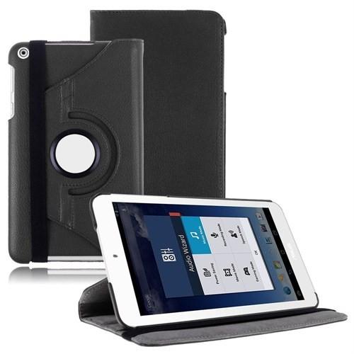 Microsonic 360 Rotating Stand Deri 8'' Asus Memo Pad 8 ME181C Tablet Kılıf Siyah CS150-360-ASS-8-M