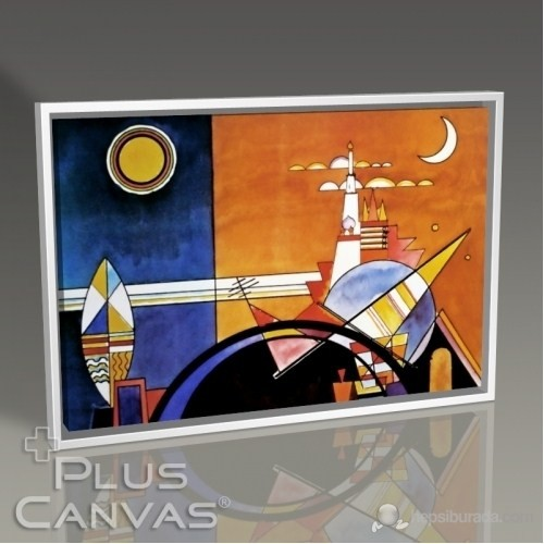 Pluscanvas - Wassily Kandinsky - La Grande Torre A Kiev Tablo
