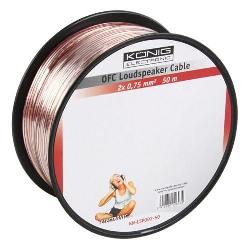 Könıg Kn-Lsp02r-50 2X0.75Mm Hoparlör Kablosu