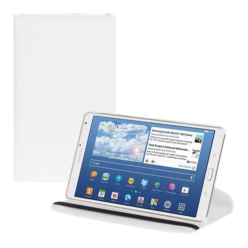 Microsonic 360 Rotating Stand Deri Samsung Galaxy Tab S 8.4 T700 Beyaz Tablet Kılıfı