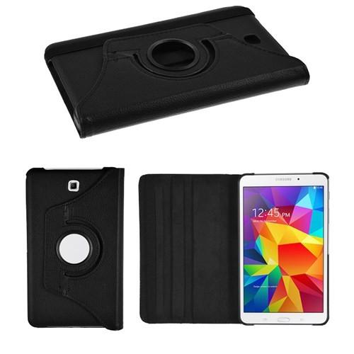 """Microsonic 360 Rotating Stand Deri Samsung Galaxy Tab4 7"""" T230 Siyah Tablet Kılıfı"""