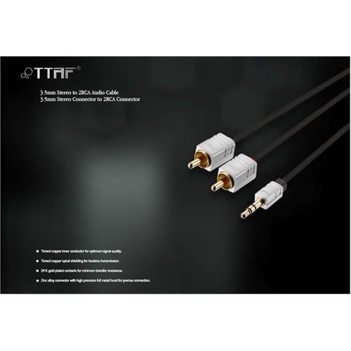 TTAF Nano Pro 3.5mm Stereo - 2 RCA Connector Audio Y Kablo 1m