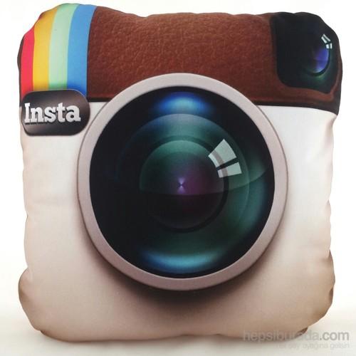 Zey Tasarım Instagram Desenli Dekoratif Yastık