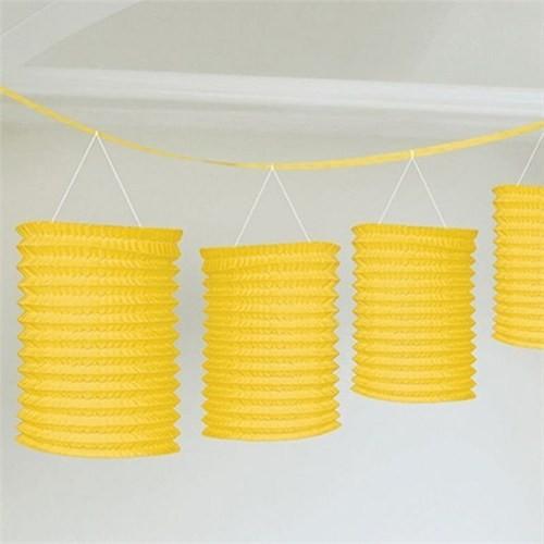Pandoli Sıralı Fener Süs Sarı 8 Adet