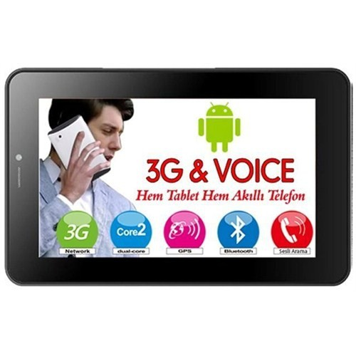 "Nextbook Nx007hd4g Nextbook 7"" Dual Core A5 1.0Ghz 1Gb 4Gb 3G Voice Telefon Özellikli Android"