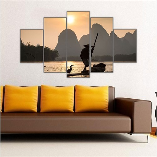 Ritmo Canvas Göl Manzarası Canvas Tablo