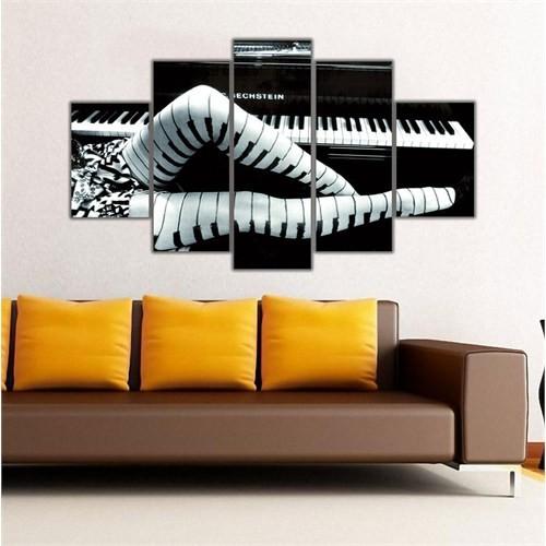 Ritmo Canvas Kadın Ve Piyano Canvas Tablo