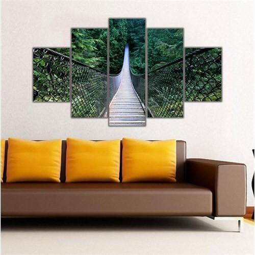 Ritmo Canvas Köprü Ve Orman Canvas Tablo
