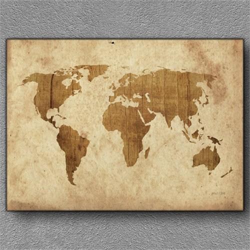 Tablom Dünya Haritası 5 Kanvas Tablo