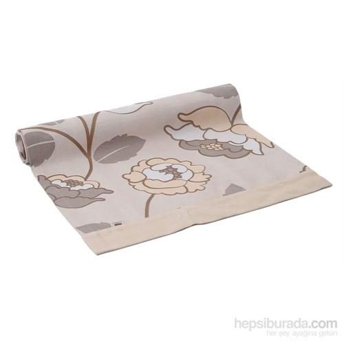 Yastıkminder Koton Krem Çiçek Kum Runner