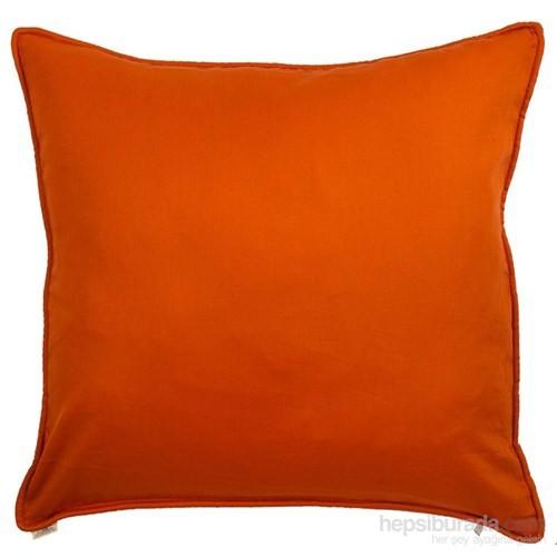 Yastıkminder Koton Oranj Düz Dekoratif Yastık