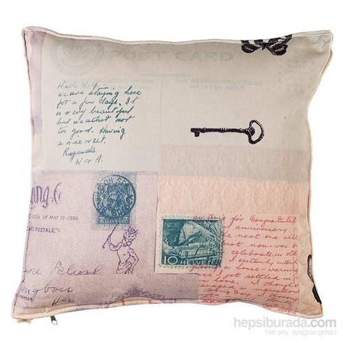 Yastıkminder Koton Ekru Bej Dekoratif Yastık