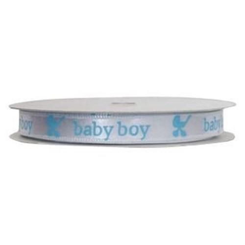 Pandoli 10 Metre Baby Boy Saten Kurdele Erkek Mavi Renk
