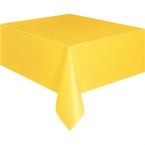 Pandoli Plastik Parti Masa Örtüsü Sarı Renk