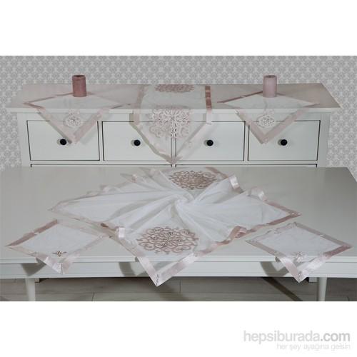 Evlen Home Collection Jaklin Pudra Salon Takımı - 16 Parça