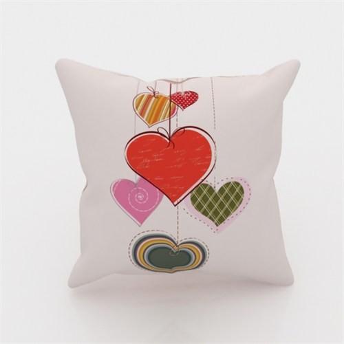 Erenev 9139 Şeker Kalpler Dekoratif Yastık