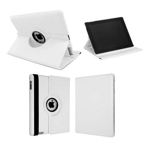Cover Me İpad 4 Kılıf 360 Derece Dönebilen Standlı Kapaklı Beyaz