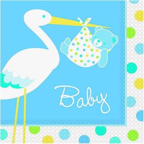 Pandoli Baby Boy Stork Peçete 16 Ad