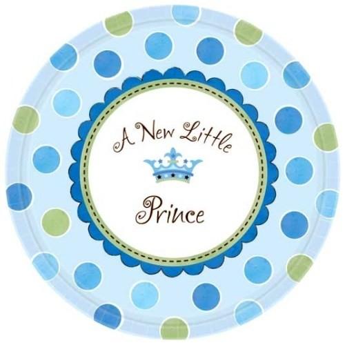 Parti Paketi Minik Prens Açık Büfe Tabağı 8'Li