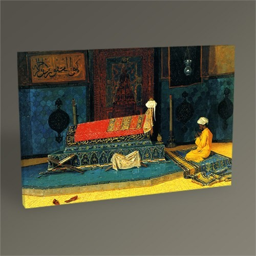 Tablo 360 Osman Hamdi Yeşil Türbede Dua Tablo 45X30