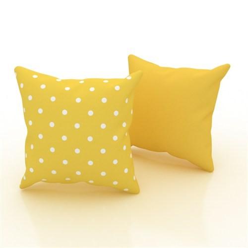 Erenev 9177 Küçük Benekler Sarı Dekoratif Yastık