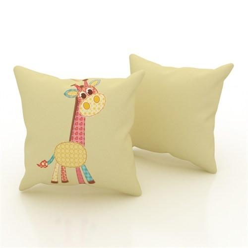 Erenev 9186 Çiçekli Zürafa Dekoratif Yastık