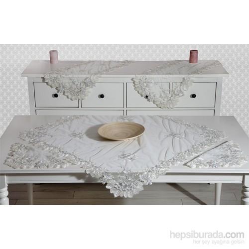 Evlen Home Collection Fransız Yaprak Salon Takımı - 5 Parça