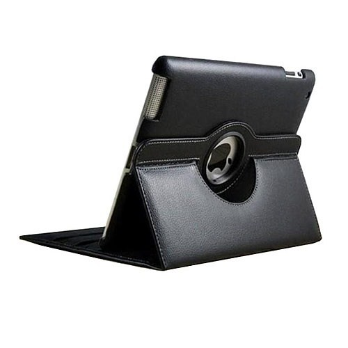 Microsonic 360 Rotating Stand iPad 2/New iPad/iPad 4 Siyah Deri Kılıf (CS150-360-ID3)