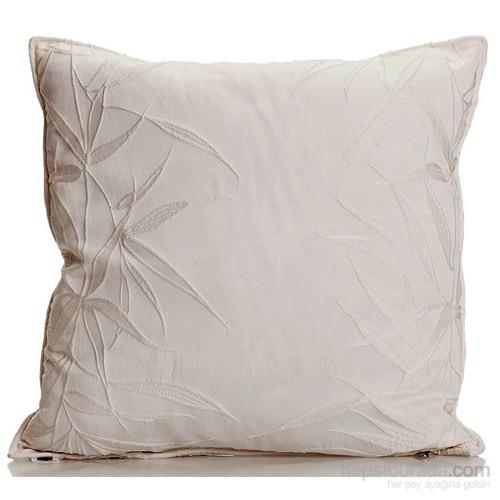 Yastıkminder Koton Polyester Kemik Kabartma Yapraklar Dekoratif Yastık