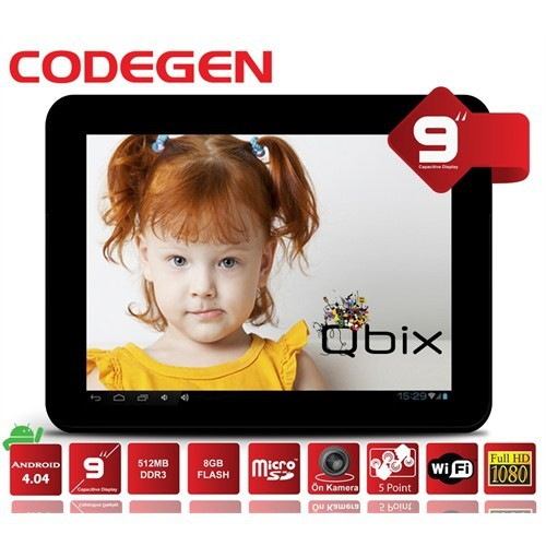 "Codegen Qbix M93 8GB 9"" Wifi Beyaz Tablet"