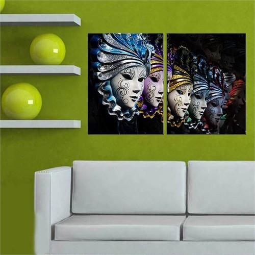Canvastablom İ131 Venedik Maskeleri Parçalı Kanvas Tablo