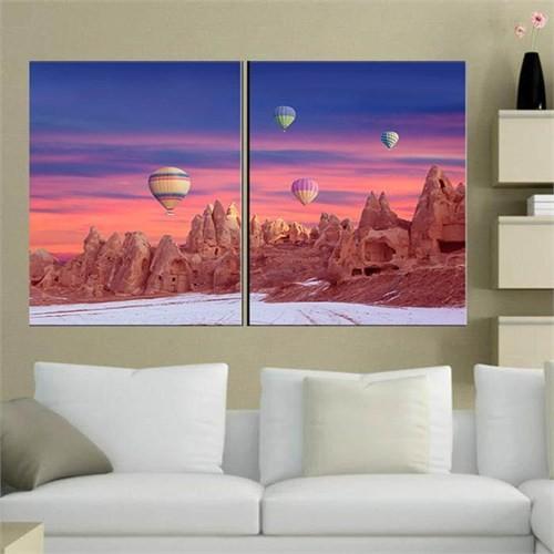 Canvastablom İ132 Kapadokya Parçalı Canvas Tablo