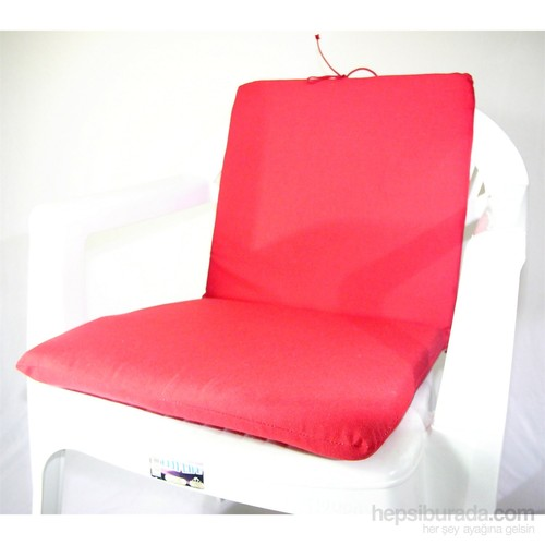 Deran 4Lü Düz Kırmızı Sandalye Minderi 253