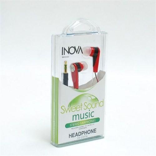 Inova Invss01 Inova Telefon/Tablet/Mp3 Uyumlu 3,5 Inc Kulakıcı Kulaklık Kırmızı/Sıyah Renk