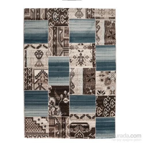 Rixos Home Patchwork Halı Mavi Kahve 150x233 cm
