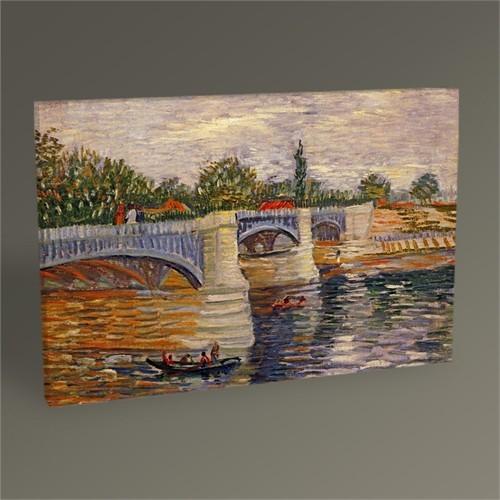 Tablo 360 Vincent Van Gogh The Seine With The Pont De La Grande Jatte 45X30