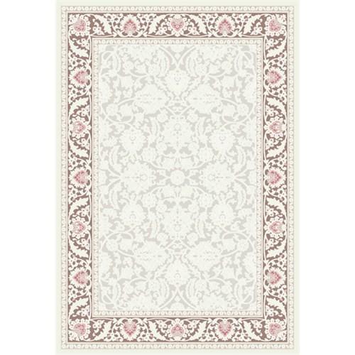 Tiffany Halı TZ291 Zirve Beyaz/Gül Kurusu 150X230 3,45 m²