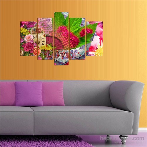 5 Parçalı Dekoratif Tablod5tp155
