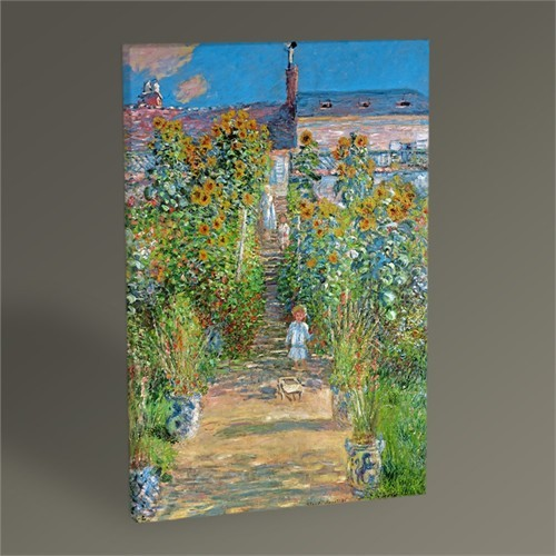 Tablo 360 Claude Monet Garden At Vétheuil Tablo 45X30