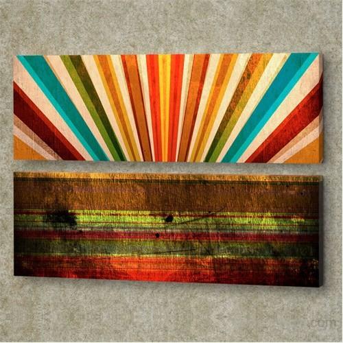Dekorjinal 2 Li Panaromic Kanvas Tablo Ugu050