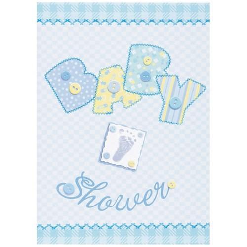 Baby Shower Stitching Davetiye 8'Li