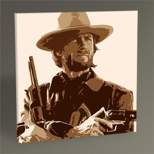 Tablo 360 Clint Eastwood Pop Art Tablo 30X30