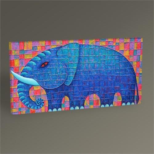 Tablo 360 Mavi Fil Tablo 60X30