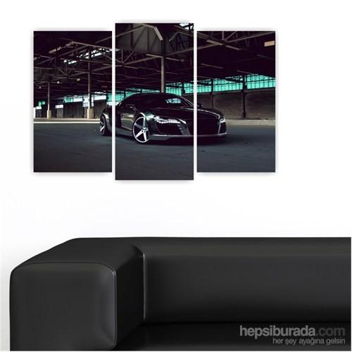 Dekoriza Audi R8 Spor Araba 3 Parçalı Kanvas Tablo 80X50cm