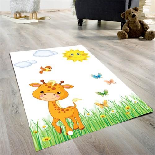Cici Halı Sevimli Zürafa Çocuk Halısı 90X140 Cm