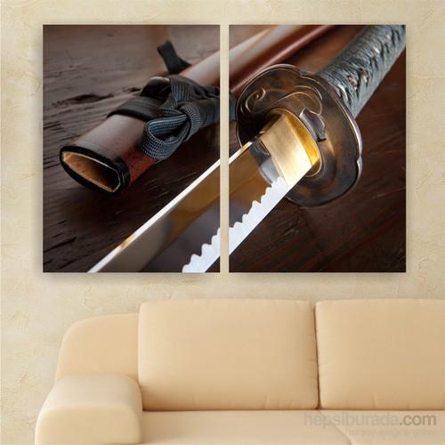 Dekoriza Samuray Kılıcı 2 Parçalı Kanvas Tablo 102X70cm